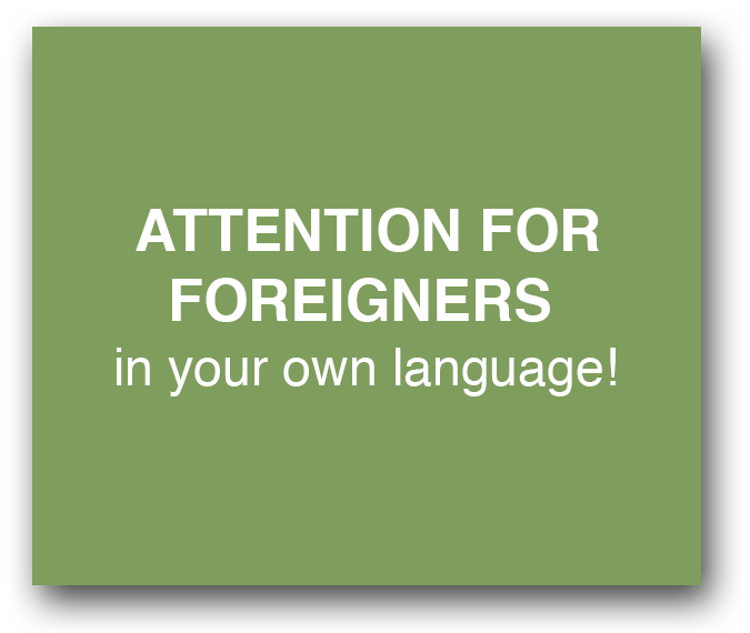 attention for foreigners